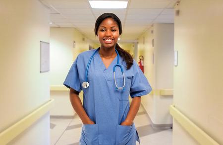 Portrait of a smiling nurse photo