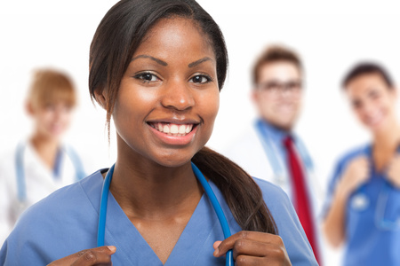 nursing aid: Portrait of a smiling nurse