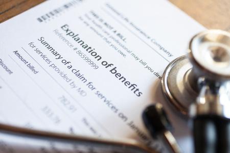 Sthethoscope and medical documents Stockfoto