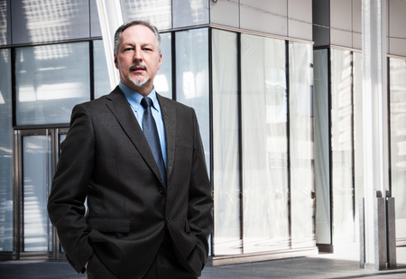 mature businessman: Portrait of a senior businessman Stock Photo