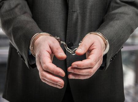 manacles: Detail of manacles on criminal