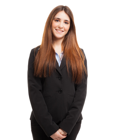 traineeship: Portrait of a young smiling woman
