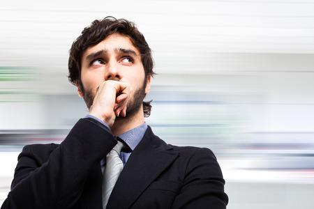 Portrait of a pensive businessman photo