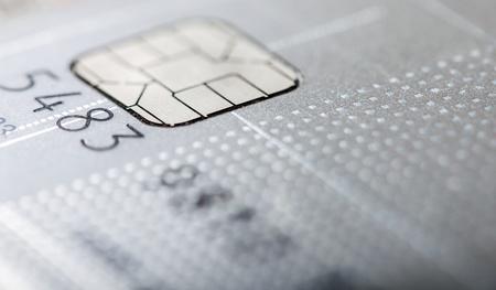 灰色のクレジット カード マクロ