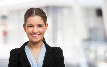 Portrait of a young smiling woman photo