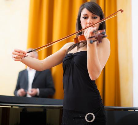 Musicians playing chamber music photo