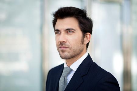visage d homme: Portrait d'un homme d'affaires beau Banque d'images