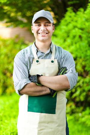 shears: Portrait of a professional gardener
