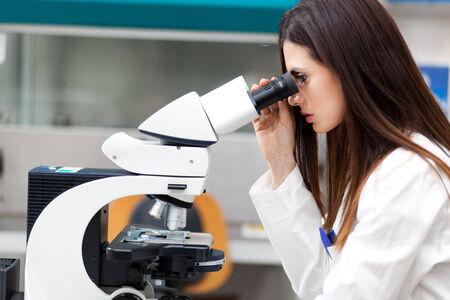 female scientist: Female scientist working in a laboratory