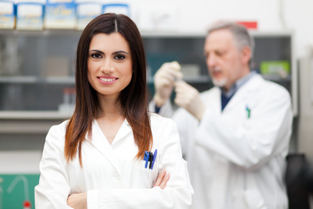 pharmacy technician: Scientist at work in a laboratory