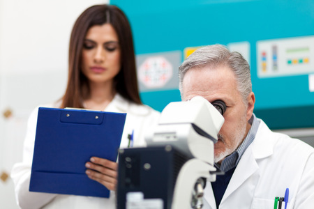 analytical: Researchers at work in a laboratory
