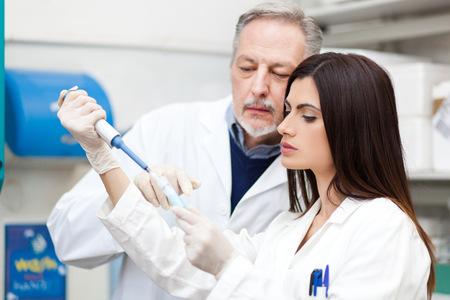 scientist: Scientist at work in a laboratory
