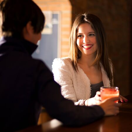 woman bar: Friends having a cocktail