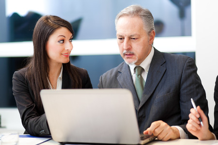 business results: Business people at work Stock Photo