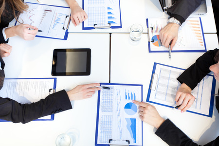 budget: Business meeting Stock Photo
