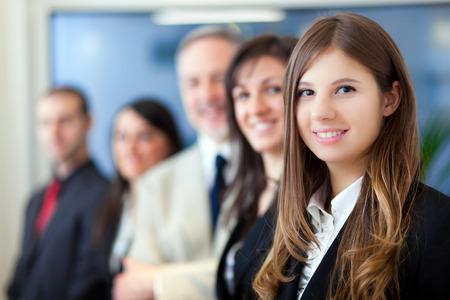 grupo de personas: Grupo sonriente de la gente de negocios Foto de archivo