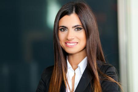 Sourire jeune femme d'affaires Banque d'images