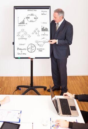 reunion de trabajo: Gente en el trabajo durante una reunión