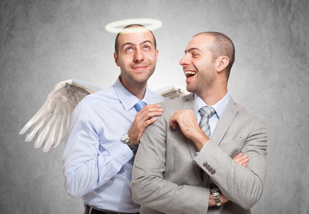clones: Happy man looking at his good self