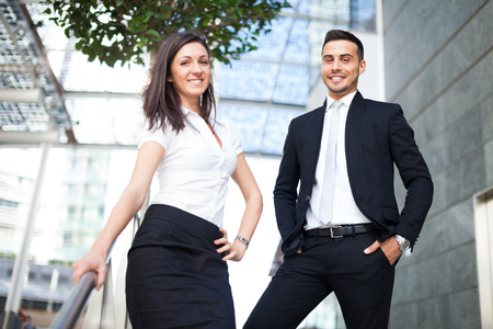 young business people: Young business people portrait