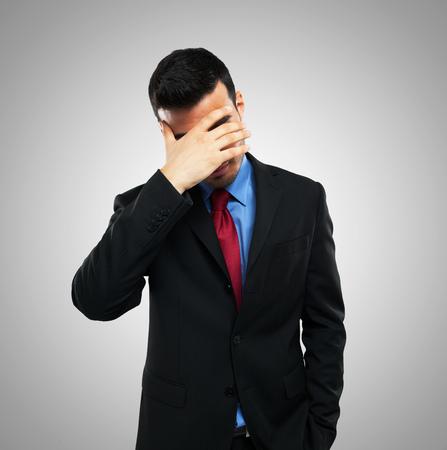 Portrait of a desperate businessman photo