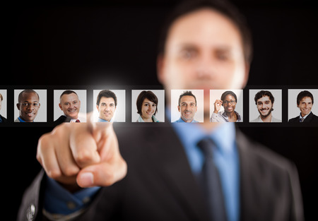 Employer choosing the right people photo