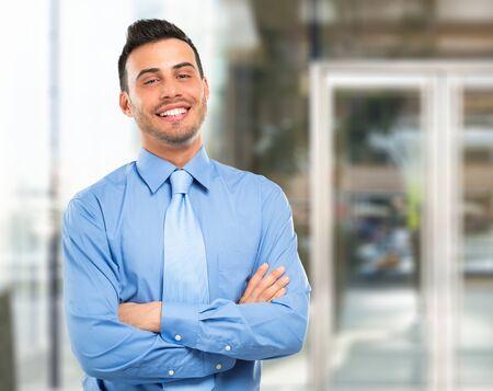 Portrait of a smiling businessman photo