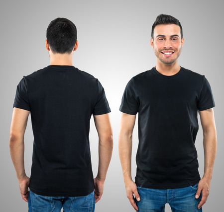 shirts: Front and rear portrait of a young man