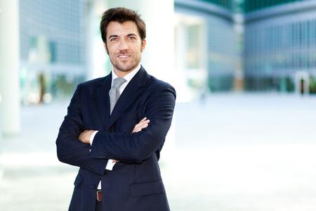 Knappe zakenman portret Stockfoto