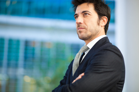 councilor: Confident businessman portrait Stock Photo