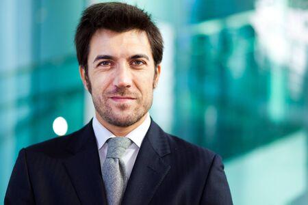 Confident businessman portrait photo