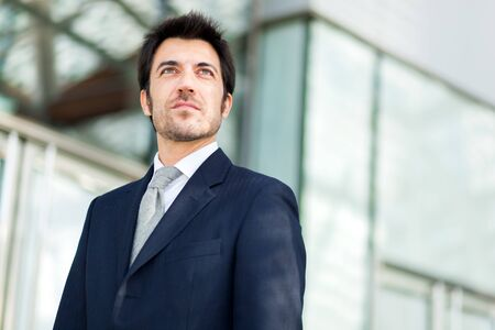 Handsome businessman portrait photo