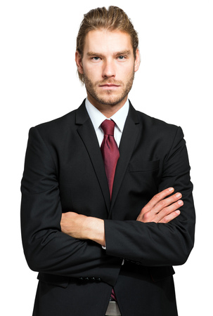 male face: Smiling handsome manager portrait