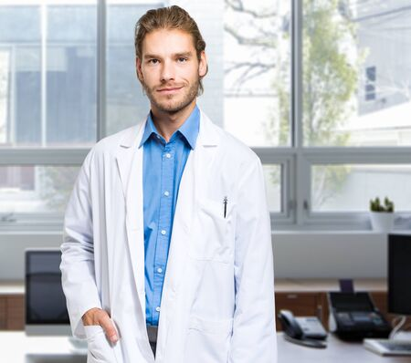 oncologist: Portrait of a handsome doctor