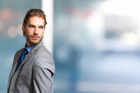 copyspace: Portrait of an handsome man. Large copy-space