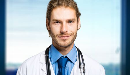 handsome doctor: Portrait of a handsome doctor