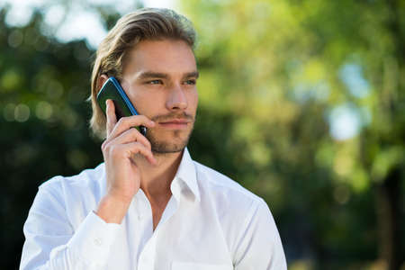 handsom: Man talking on the phone