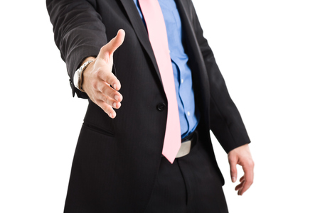 impersonal: Businessman offering an handshake