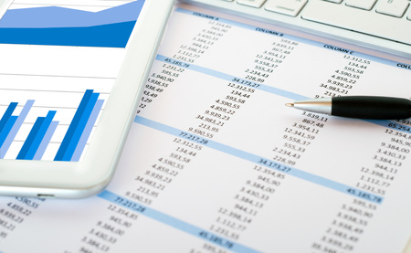 reports: Financial data analysis concept