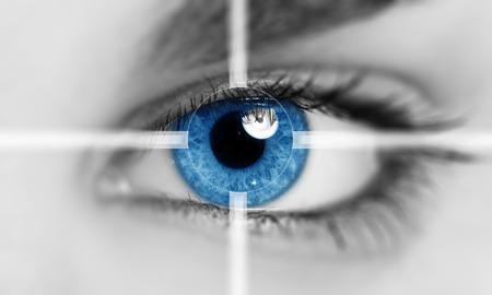 Close-up des Auges Standard-Bild - 55324463