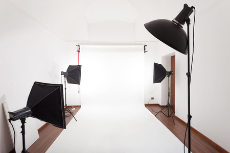 photographic: Photographic studio interior Stock Photo