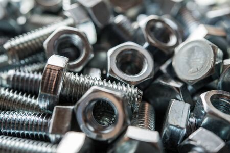 metalware: Metal nuts and bolts