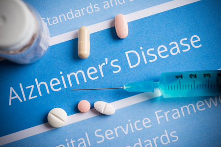 alzheimers: Alzheimers disease related documents and drugs Stock Photo