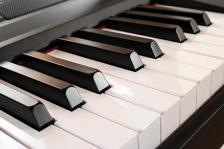 digital compose: Close-up of a piano keyboard