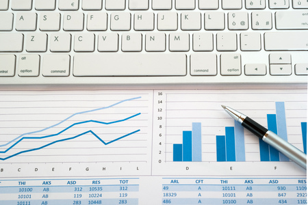 financial reports: Kayboard on financial reports