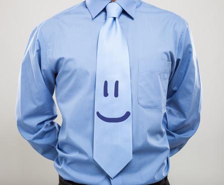 Smiling necktie. Friendly business concept