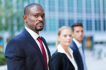 black businessman: portrait of multiracial business team