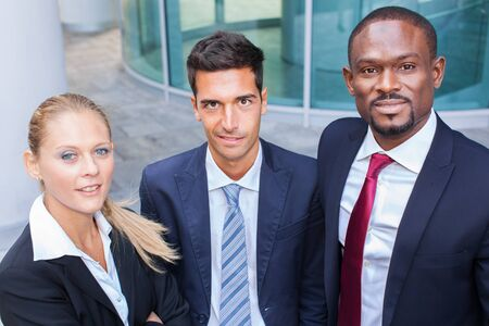 Business people in a modern business environment Stock Photo