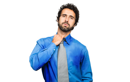 hot climate: Sweating businessman due to hot climate