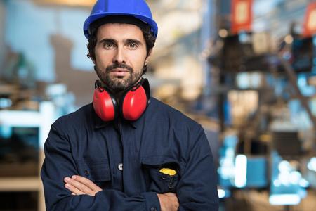 Portrait d'un ingénieur en mécanique Banque d'images